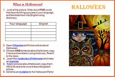 Esl lesson plan examples and free ready to use english lessons it can be also used as a homework on halloween or during private lessons with kids stopboris Choice Image